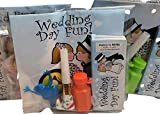 Wedding Party Activity Kits for Children: Bundle of 5 - Color Book, Colors, Frog, Sticker, Bubble, and Horn