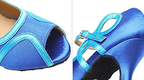 Mujeres Blueheeled6cm Zapatos Color Jazz uk5 Salsa Tango Our38 Blueheeled7 5cm Eu37 Moderno eu37 our38 De Uk5 Blueheeled7 Para Chacha 5cm Tamaño Samba Latino Baile IqrWITwa