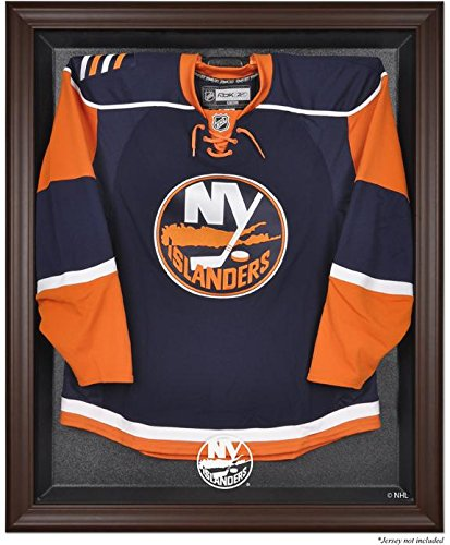 New York Islanders Brown Framed Logo Jersey Display Case - Logo Browns Display Case