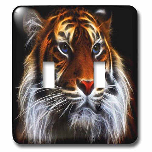3dRose lsp_167121_2 Beautiful Bengal Tiger Digitally Enhanced with Light Affects Light Switch Cover