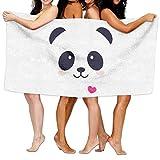 Cartoon Panda Beach Towels Ultra Absorbent Microfiber Bath Towel Picnic Mat For Men Women Kids