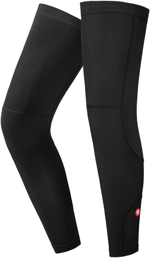 qualidyne Leg Sleeves, Calf Compression Sleeve Fleece Full Long Sleeves Cycling Bicycle MTB Riding Leg Warmers : Sports & Outdoors