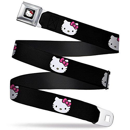 Buckle-Down Seatbelt Belt - Hello Kitty Face Pink Bow/Bows & Stripes Black/Gray/Rainbow Animal Skins - 1.0