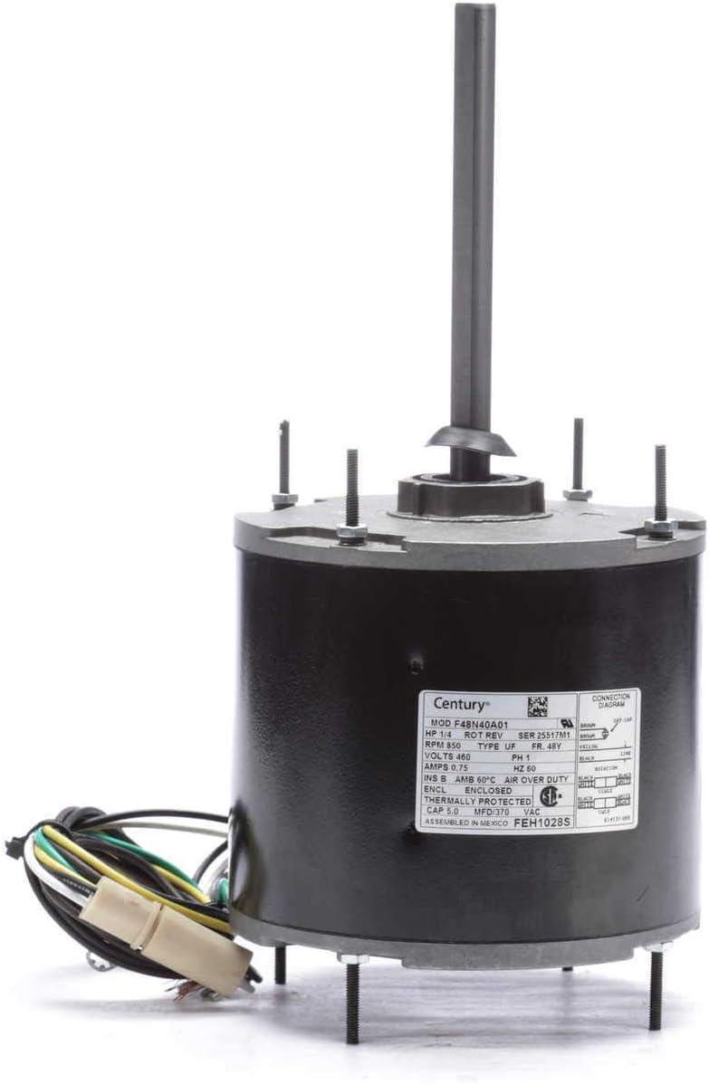Century AO Smith FEH1028S Condenser Motor, 1/4 HP, PSC, 850 RPM, 460V