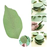 Leaf Sticky Notes Self Stick Note 3D Leaf Shape Memo Pad Recyclable Sticky Notes Memo Pad Portable Paper Notes for School Home Office Use 1PC (Green)