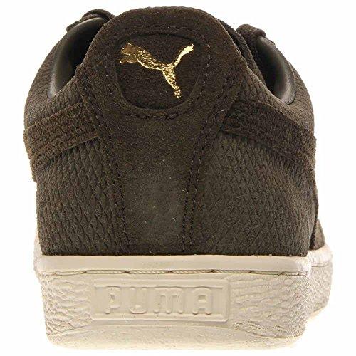 Puma Uomo Camoscio Classic E Mod Heritage Sneaker Forest Night / White