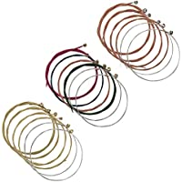 Maosifang 3 Sets of 18 Guitar Strings Replacement Steel...