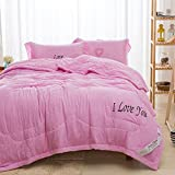 WWQY Washed cotton cool summer air conditioning was fiber was double hotel summer was , pink , 150200 summer quilt