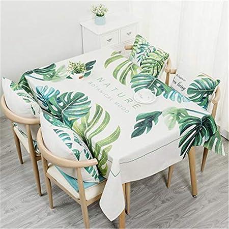 QWEASDZX Mantel Mantel Antimanchas Fresco, pequeño Algodón y Lino Mantel Rectangular Impermeable a Prueba de Aceite Adecuado para Uso en Interiores y Exteriores 100x160cm: Amazon.es: Hogar