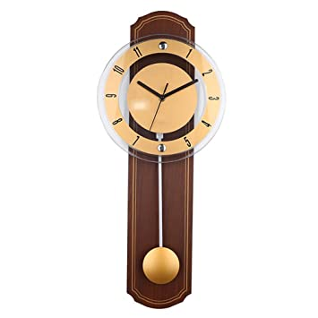 Relojes de pared Estilo Europeo Reloj Personalidad saln Swing Reloj Antiguos, Brown