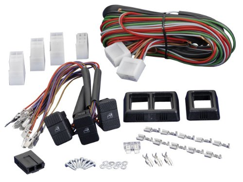 Spal Power Window Kit (Spal 33040128 Surface Mount Universal 3-Switch Kit)