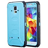 ULAK Galaxy S5 Case [KNOX Armor] Heavy Duty Four Corners Protection Cover Heavy Duty Case for Samsung Galaxy S5 (2014) -Blue