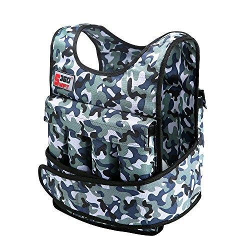 Swift360, 20lbs/40lbs Weight vest for cross-fit training, exercise and jogging. Comes in camouflage or black. (without shoulder pads, camouflage) (With Shoulder Pads, 40lbs)