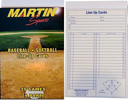 New Martin Baseball Softball 35 Game, 4 Part Carbon Copy ...