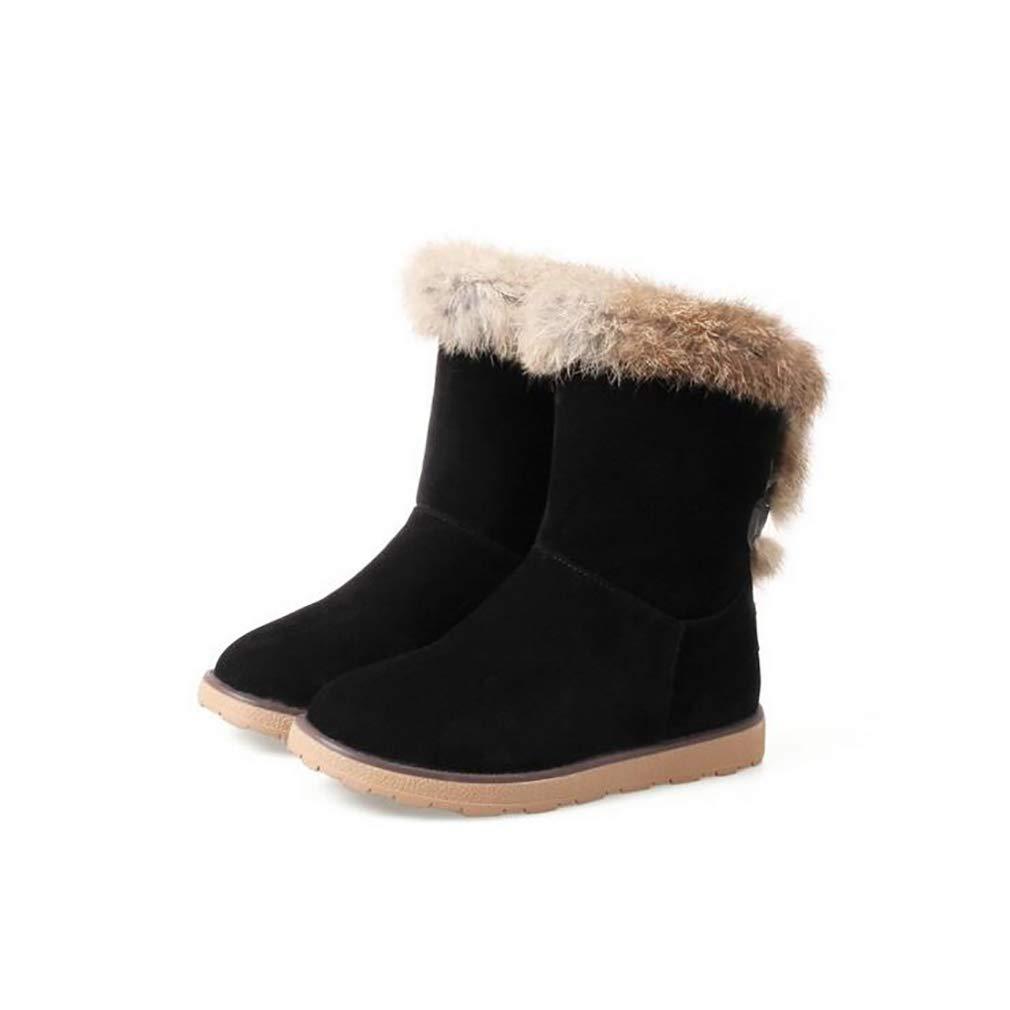 Hy Damen Stiefel Stiefelies Winter Stiefel Wildleder Winter Stiefelies Stiefel Damen Schnee Stiefel Stiefel Academy Flache beiläufige große Größe Stiefeletten Student Snow Stiefel Stiefel (Farbe   C Größe   34) c22d6f