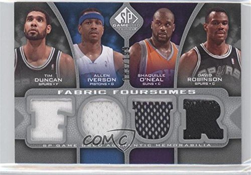 Tim Duncan; Allen Iverson; Shaquille O'Neal; David Robinson #183/199 (Basketball Card) 2009-10 SP Game Used - Fabric Foursomes #F4-DIOR