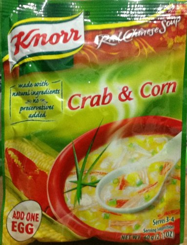 Knorr Crab & Corn Real Chinese Soup, 60g(2.12oz) Each Pack, Lot of 6 by Knorr