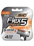 BIC Flex5 Hybrid 5 Blade Razor Refills, 4-Count