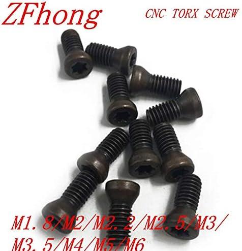 Marque Size : M2x5 QWERTY M1.8 m2 M2.2 50pcs M2.5 m3 M3.5 m4 CNC Ins/érer Vis Torx for inserts en carbure CNC remplace loutil Lathe brand:OWERTY