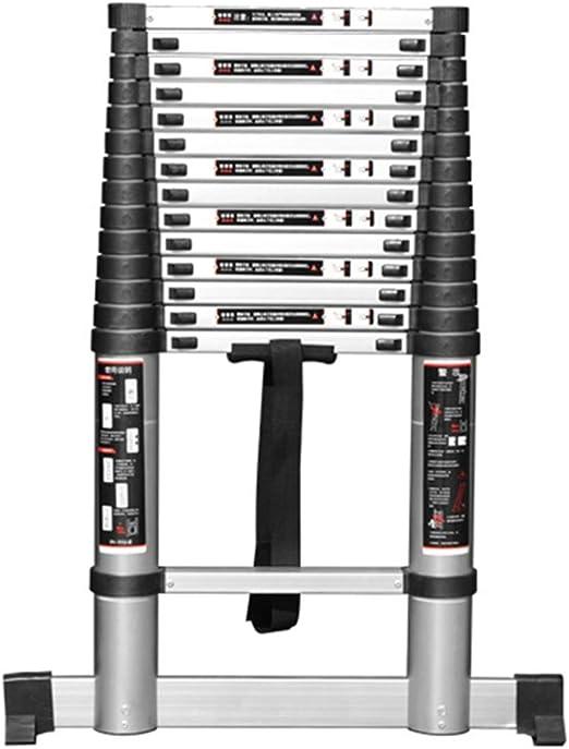ZAQI Escalera Extensible/Escalera telescópica Escalera de extensión Ligera, Escalera Profesional Plegable de Aluminio para Loft ático Interior Exterior, Carga 150 kg (Tamaño : 2m): Amazon.es: Hogar