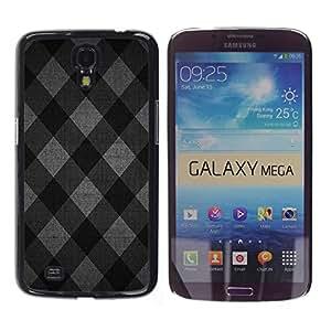 TECHCASE**Cubierta de la caja de protección la piel dura para el ** Samsung Galaxy Mega 6.3 I9200 SGH-i527 ** Pattern Fabric Design Grey Squares Wallpaper