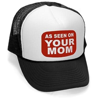 Megashirtz - As seen on your mom - Vintage Style Trucker Hat Retro Mesh Cap