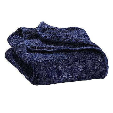 Disana Manta para bebé, 80 x 100 cm, hecha de lana virgen de merino azul marine Talla:80 x 100 cm: Amazon.es: Bebé