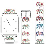 Band For Iwatch 38mm Series 1/2/3 / Topgraph Compatible Replacement Leather Strap For Apple Watch 38Mm Vintage Animal Art Design