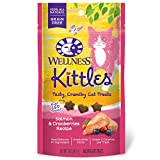 Wellness Kittles Crunchy Natural Grain Free Cat Treats, Salmon & Cranberries, 2-Ounce Bag