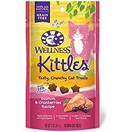 Wellness Kittles Crunchy Natural Grain Free Cat Treats, Salmon & Cranberries, 2-Ounce Bag