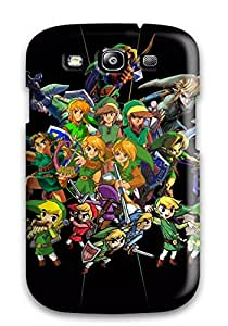 Premium Protection The Legend Of Zelda Characters Case Cover For Galaxy S3- Retail Packaging