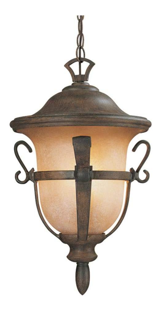 Three Light Textured Matte Black Hanging Lantern Textured Matte Black