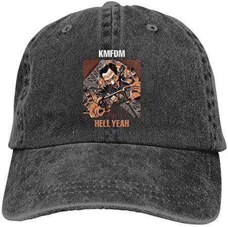 NOT KMFDM Angst Hats Adjustable Peaked Trucker Denim Baseball Caps Casquette