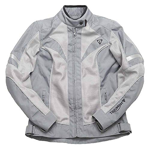 (Triumph Ladies Textile Mesh Motorcycle Jacket MUSS15160 (Small))