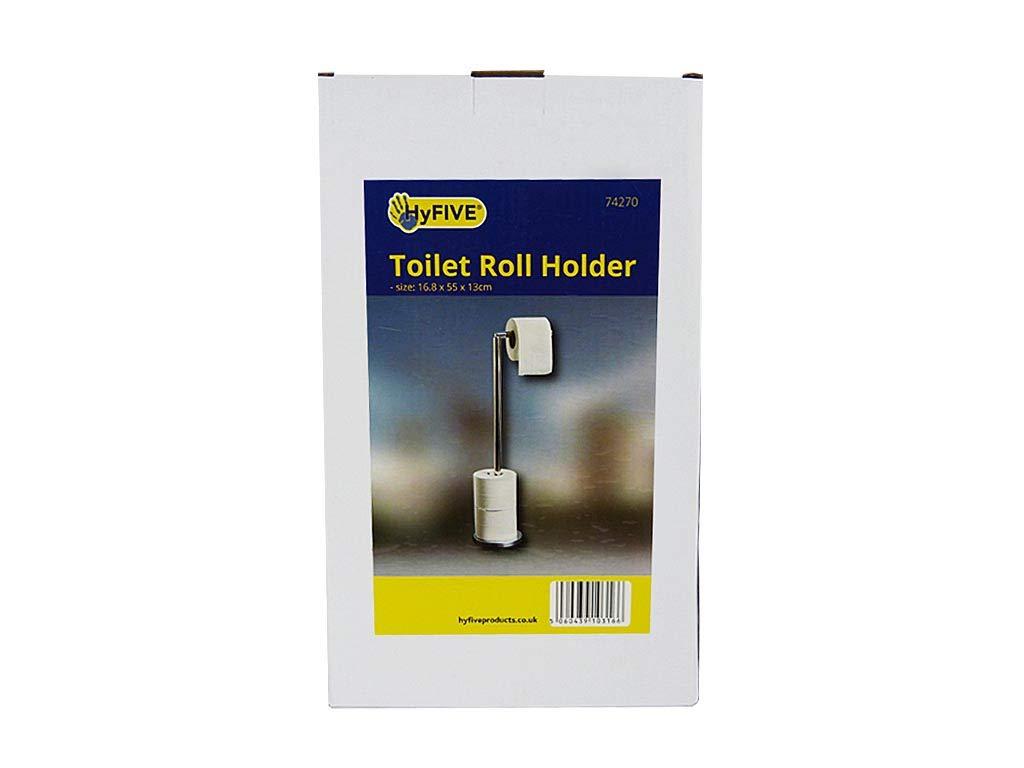 Hyfive WC Porta Bobina autoportante in Acciaio Inox 2 in 1 Carta igienica Il cavalletto di rimessaggio