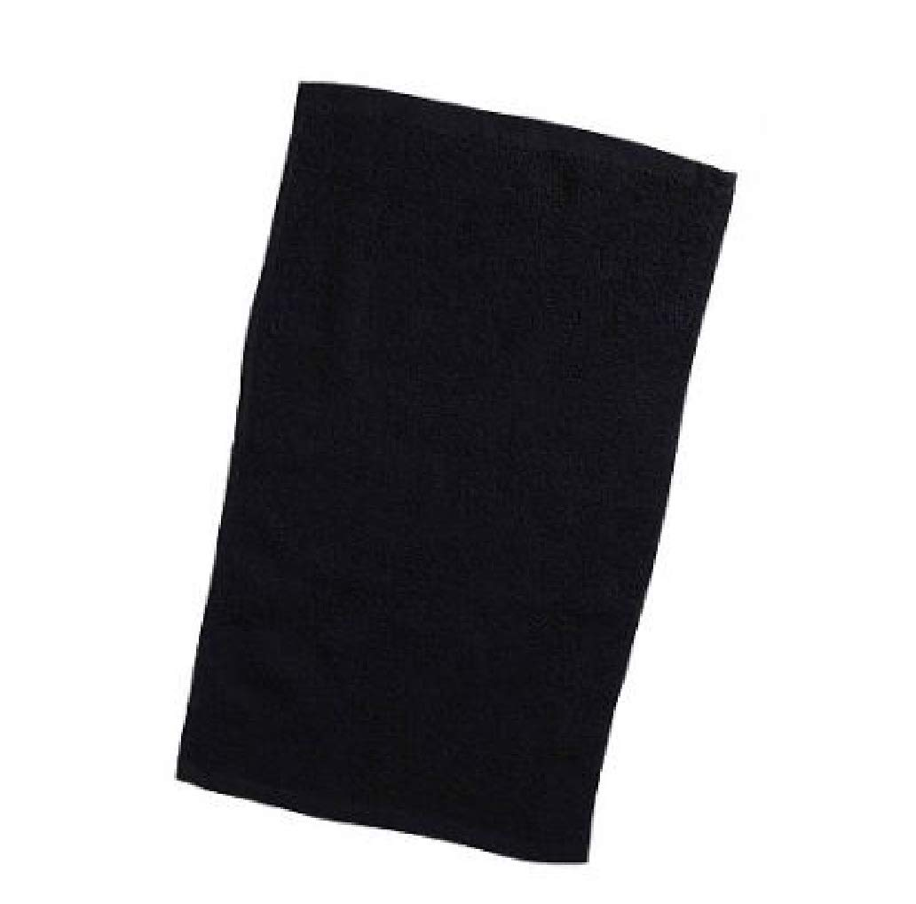 100 Pack Budget Rally Towels, Terry Cotton Fingertip Towels, Size 11''w x 18''h (Black, 100)