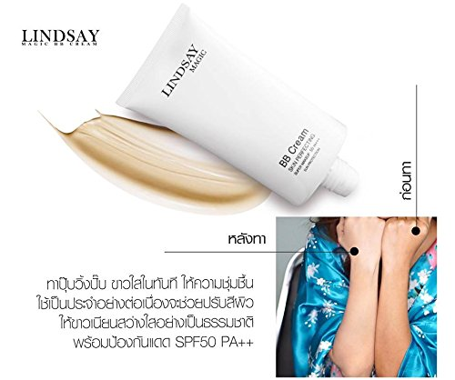 LINDSAY MAGIC BB 2 BOXES OF CREAM SKIN PERFECTING MAKEUP 150G. SPF50 PA ++ PERFECT YOUR SKIN ALMOST IMPORTANT DAY. [GET FREE BEAUTY GIFT FOR YOU]