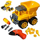 Take Apart Dump Truck Toy with Kids Tool Set - Construction Trucks Building Toys for Kids - Perfect Take Apart Toys for Boys & Girls - Improve Fine Motor Skills, Critical Thinking & Build Confidence.
