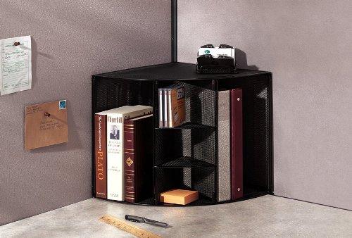 Rolodex Mesh Collection Corner Desktop Shelf Black 62630