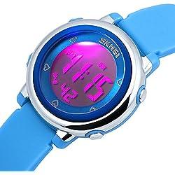 Zeiger Kids Watches Sports Cool Young Girls Boys Teen Student Digital Watch, Time Teacher Children -Blue