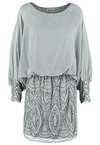 Beads Grau amp; Damen Cocktailkleid Kleid ROKSANA Lace Festliches Gr Kleid 34 OaZ5qwZPK