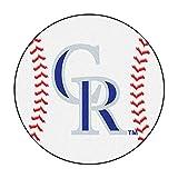 "Fan Mats ""colorado Rockies Mlb ""baseball"" Round Floor Mat (29"")"""