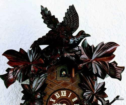 German Cuckoo Clock 8-day-movement Carved-Style 16.00 inch – Authentic black forest cuckoo clock by Hekas