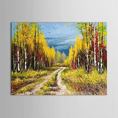 Dipinti A Mano Olio Pittura Di Paesaggio Autunnali Colline Paesaggio