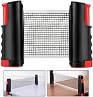 Fostoy Ping Pong Nets, Table Tennis Nets Adjustable Retractable Net Ping Pong Replacement Net, Portable Travel