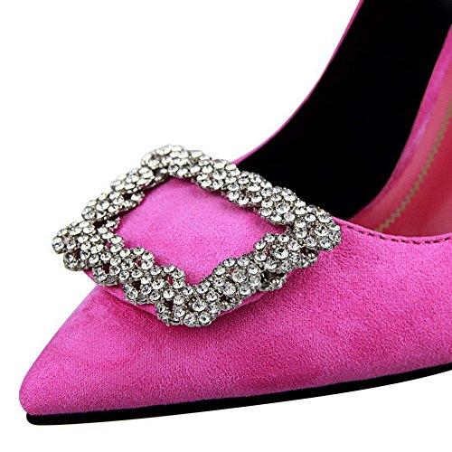 Tirare Tacco di Donna Punta Alto Pelle Scarpe VogueZone009 A Flats Ballet Mucca xnU08ZOnqw