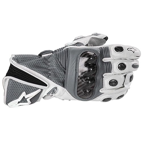 2013 Alpinestars Stella GP Plus Women's Leather Motorcycle Gloves SIL XL