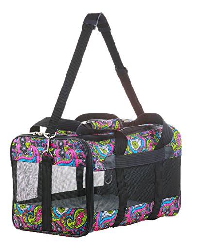 - Sherpa Original Deluxe Floral Pet Carrier, Small, Multi Colored