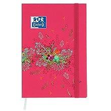 Oxford Flowers - Agenda escolar 2017-2018, 1 día por página, 352 páginas, 12 x 18 cm, roja (idioma español no garantizado)