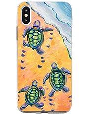 Oihxse Funda para iPhone 11 Transparente, Estuche con iPhone 11 Ultra-Delgado Silicona TPU Suave Protectora Carcasa Océano Animal Serie Bumper (C4)